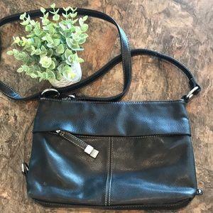 Tignanello black crossbody purse